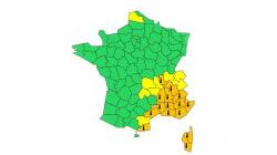 Météo-France place 15 départements en vigilance orange à la