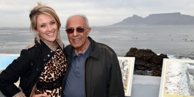 Catherine Constantinides and Ahmed Kathrada.