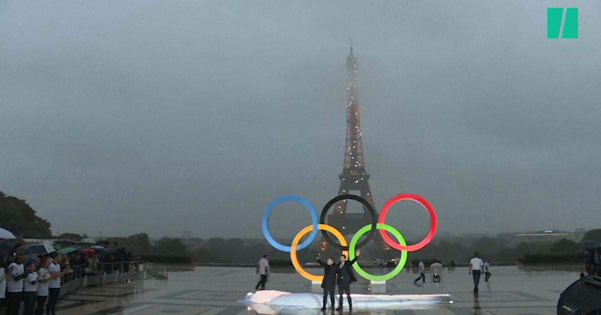 Paris 2024: les anneaux des Jeux Olympiques dévoilés au ...