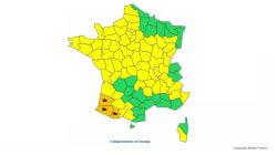 Trois départements du Sud-Ouest en alerte orange pour vents