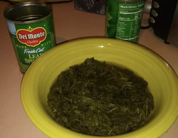 Woman finds dead bird in can of spinach