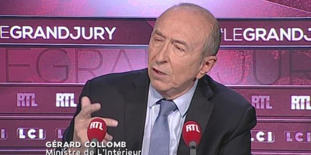 """Gérard Collomb sur le plateau du """"Grand Jury RTL / LCI / Le Figaro"""" dimanche 17 septembre."""