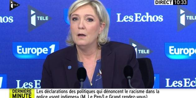 Marine Le Pen invitée du Grand Rendez-vous Europe1, iTélé Les Echos.