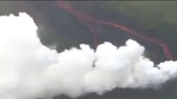 Les images des vapeurs acides qui menacent Hawaï après l'éruption du