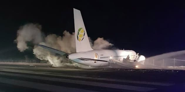 Un avion de Fly Jamaica Airways s'est posé d'urgence en Guyana.