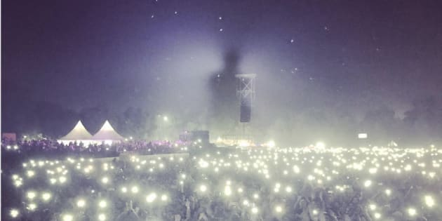 Bryan Adams shared a photo of his concert on Instagram that shows how polluted Delhi is.