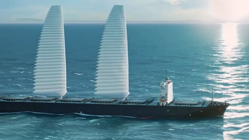 Michelin wants to put inflatable sails on ships to boost fuel economy