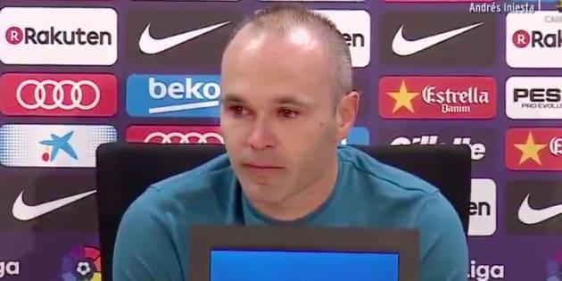 Vendredi 27 avril, Andrés Iniesta confirme son départ du FC Barcelone.