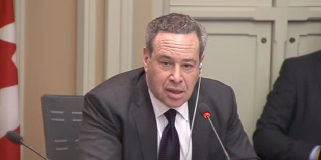 David Frum, a Canadian expat who works as a staff writer for The Atlantic in the U.S., speaks to the Senate's legal and constitutional affairs committee on Nov. 29, 2018.