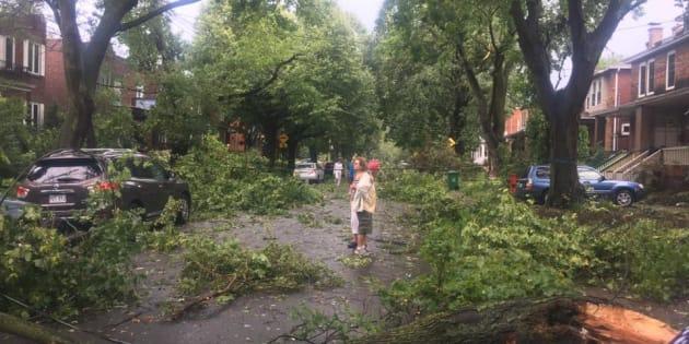 115 000 abonnés d'Hydro-Québec privés d'électricité — Orages violents