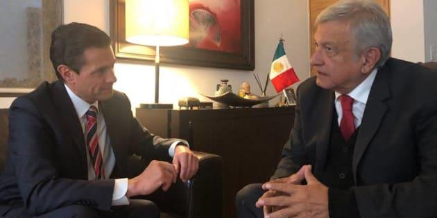El presidente Enrique Peña Nieto y Andrés Manuel López Obrador sostuvieron un encuentro este miércoles.