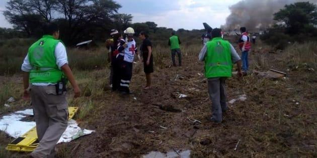 El tripulante más afectado fue el piloto Carlos Galván, quien fue llevado al Hospital 450 e ingresó a quirófano.