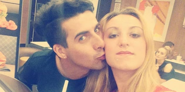 Laura Petrolito (la vittima) con il compagno Paolo Cumbo