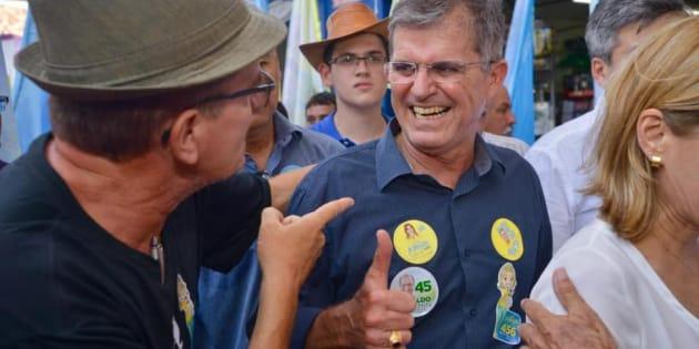 O general da reserva Guilherme Theophilo, em campanha no Ceará, onde disputou o cargo de governador neste ano.