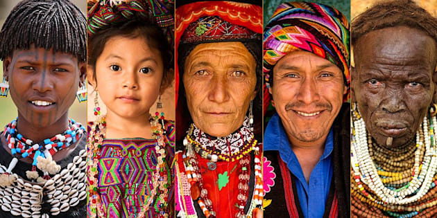 """""""The World In Faces"""" is a collection of photographs featuring people ofdiverse cultural backgrounds from around the globe."""
