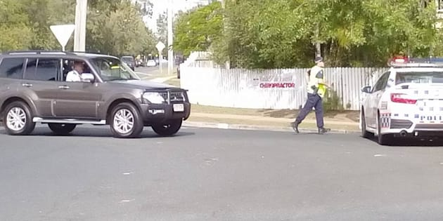 "Police closed a number of streets in Redcliffe after a man with ""a homemade gun"" made threats."