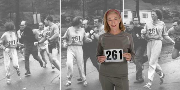 Kathrine Switzer court à nouveau le marathon de Boston, 50 ans après son acte de bravoure