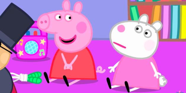 Cause de peppa pig des enfants am ricains d veloppent un accent britannique le huffington - Dessin anime de peppa cochon ...