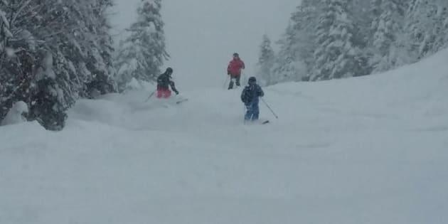 Ski sur neige naturelle au Valinouët le 9 décembre dernier