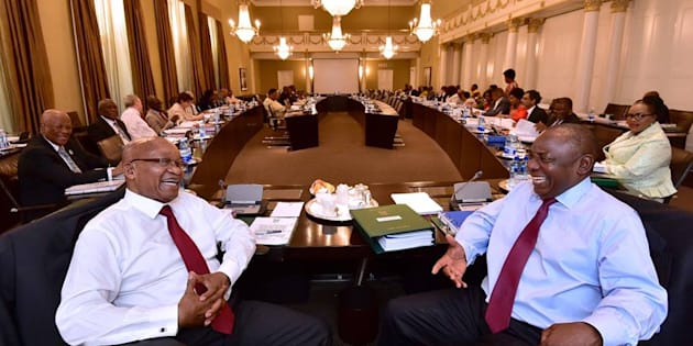 The last Cabinet meeting under former president Jacob Zuma last week. Deputy President Cyril Ramaphosa will have to make judicious changes to the executive.
