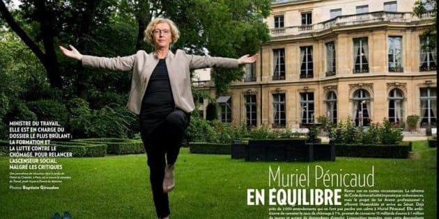 """Après sa photo détournée en masse, Muriel Pénicaud assume """"un zeste d'humour"""""""