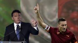 Così Renzi viene paragonato a Totti. L'idea di una pagina fan scatena l'ironia della