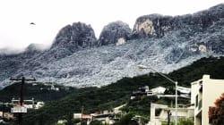 EN FOTOS: No, no es Davos, es nieve en