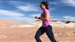 La ultramaratonista mexicana Nahila Hernández corre cientos de kilómetros por los niños