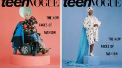 3 modelos con discapacidad en las portadas de 'Teen Vogue' de