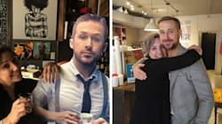 Ryan Gosling Finally Visits Cafe That Tried To Lure Him With Cardboard