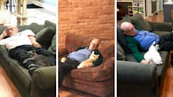 75-Year-Old Volunteer Visits Animal Shelter Every Day And Naps With