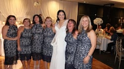 Six fois la même robe, et elles n'étaient même pas demoiselles
