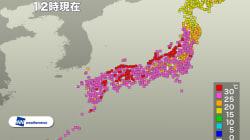 台風25号の影響で、日本列島に季節外れの猛暑襲来。全国102地点で真夏日