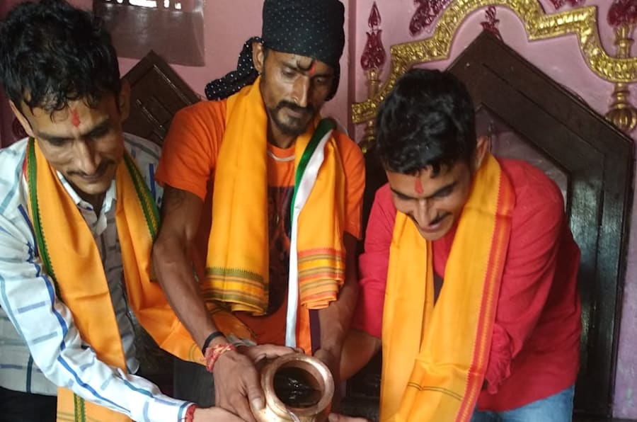 Three Muslim brothers in Baghpat converted to Hinduism on October 2.