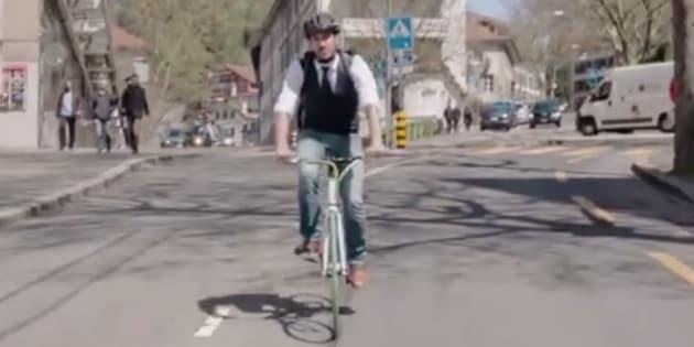 Cette vidéo de prévention routière pour les cyclistes en Suisse ne fait pas l'unanimité