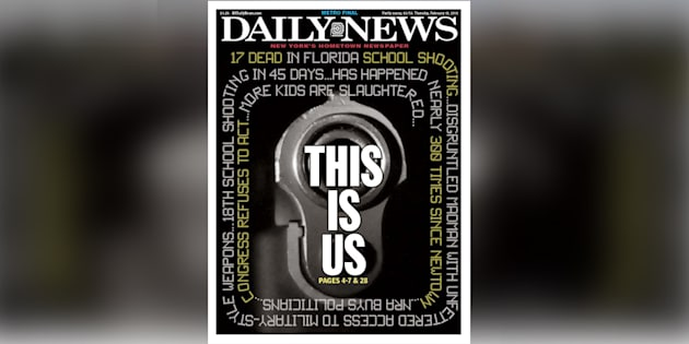 """La Une du """"Daily News"""" met brutalement les États-Unis face à leur inaction totale pour contrôler les armes"""