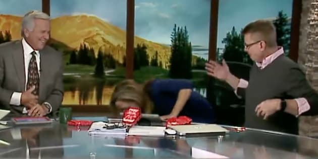 Watch Local TV Anchor Puke on Camera After Eating Extra Spicy Chip