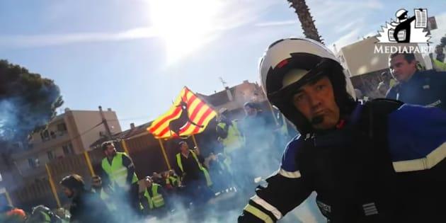Une nouvelle vidéo montre le face-à-face entre le commandant Didier Andrieux et des manifestants à Toulon le 5 janvier.