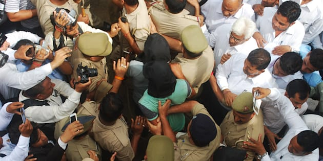 The three accused in the Bulandshahr gang rape case were sent to judicial custody for 14 days.
