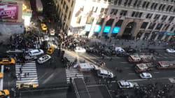 Moment de panique à New York quand un van a renversé des
