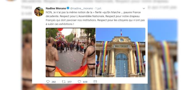 L'eurodéputée Nadine Morano est visée par une plainte pour injure homophobe et transphobe après ce tweet.
