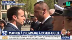 Les images de la cérémonie d'hommage à Xavier Jugelé, le policier tué sur les
