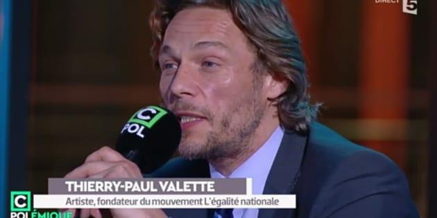André Paul Valette, dans le public de C Polémique sur France 5.