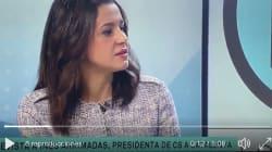 La pregunta de un presentador de TV3 que dejó a Arrimadas con esta