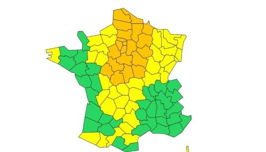 24 départements placés en vigilance orange pour neige et