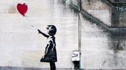 Esta famosa obra de Banksy se autodestruye justo después de ser