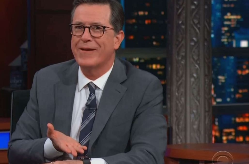 Embarrassing Call Interrupts Stephen Colbert Interview With Mindy Kaling Aol Entertainment