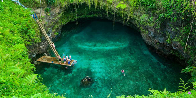 To Sua ocean trench in Upolu, Samoa, South Pacific, Pacific