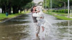 Ce couple n'a pas laissé l'ouragan Harvey gâcher son