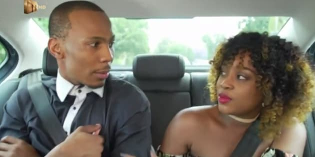 Obakeng and Jody on their way to their first date.